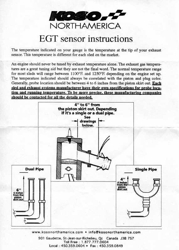 Инструкция для Koso EGT sensor