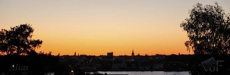 Рассвет над городом