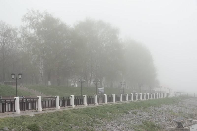 Набережная в тумане