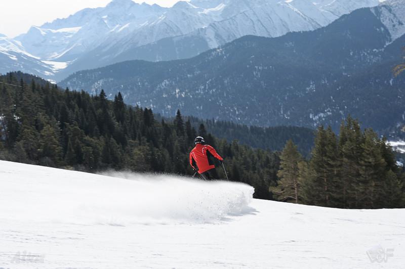 Лыжник на 16 трассе