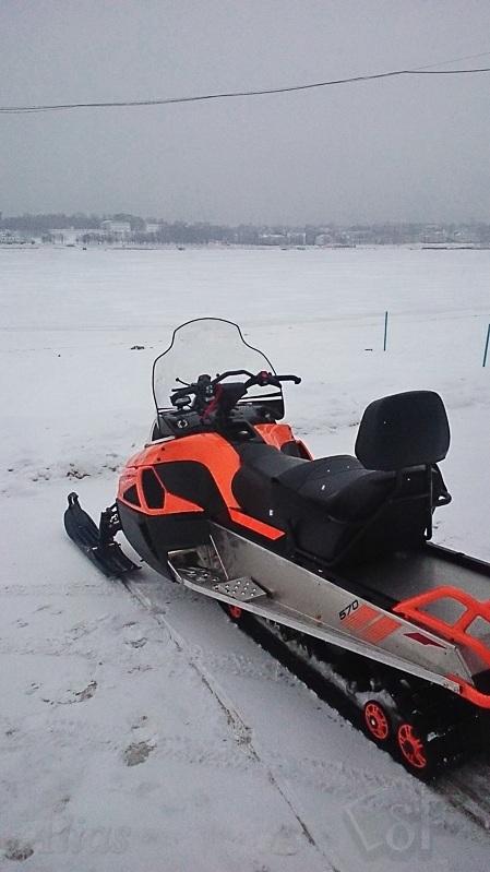 Выезд в поля на снегоходе