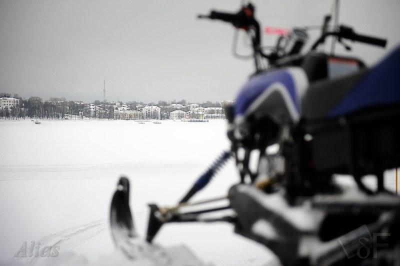 Снегоход перед испытаниями на Волге
