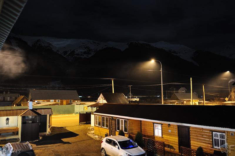Ночные горы в Архызе
