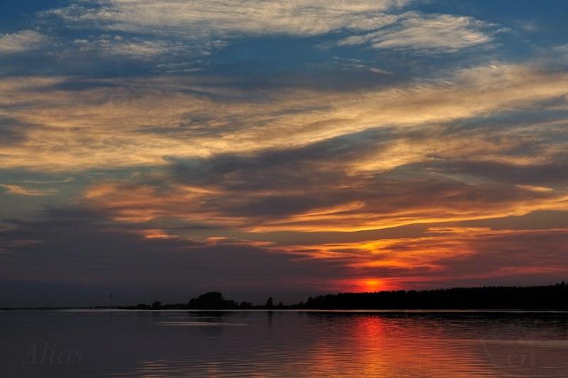 Волга в закате