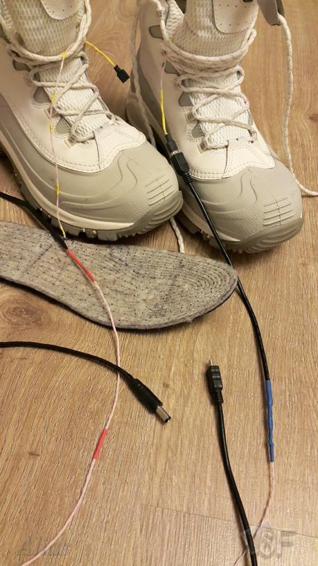 Самодельные стельки с электроподогревом