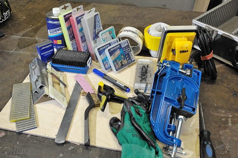 Инструменты и материалы домашнего ski-сервиса